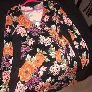 Forever21 Floral Dress with tie